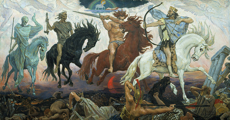 """Four Horsemen of the Apocalypse"" by Victor Vasnetsov"