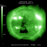 Triangular Coronal Hole Opens on Sun Images